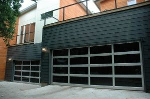 contemporary style glass garage door orlando fl